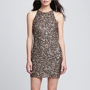 Parker Audrey Sequined Halter Dress XS